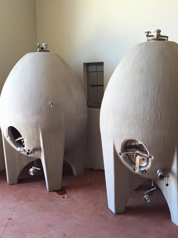 egg shaped wine tank